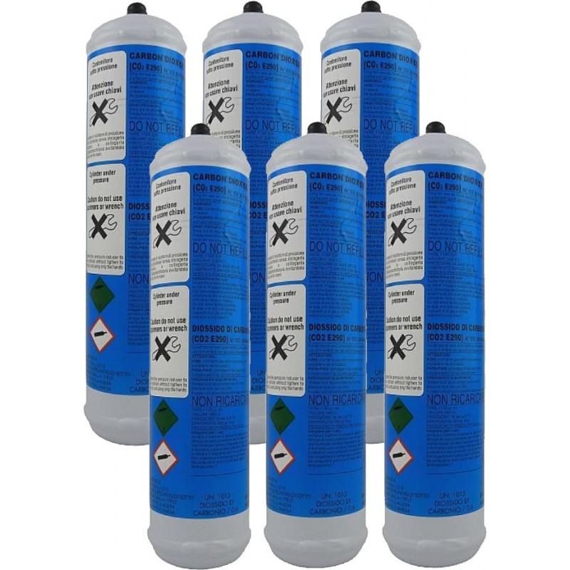 per gasatore acqua 6 Bombola CO2 600 gr erogatore...